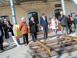 Le 13 avril dernier, 200 personnes avaient manifesté devant la gare de Séverac-d'Aveyron.
