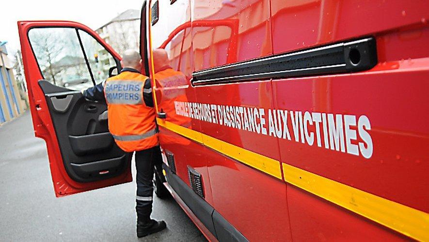 La victime a été prise en charge par les pompiers de Rodez.