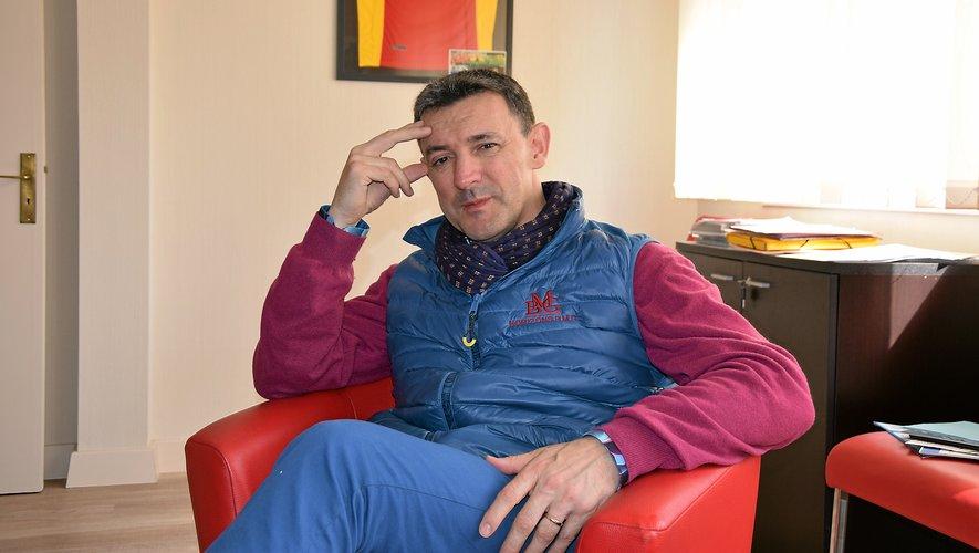David Garlenc, au sein de son cabinet du Passage de l'Amphithéâtre à Rodez, qui regroupe l'essentiel des activités de Horizons B.M.G.