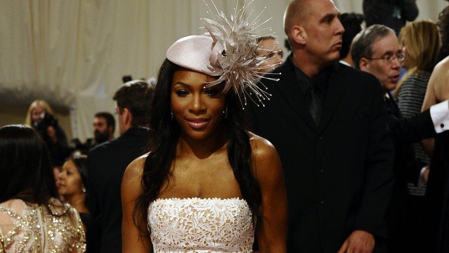 Serena Williams, qui fera partie des co-présidents du MET Gala 2019, a confondu l'événement mode de l'année avec le mariage d'un proche. La joueuse de tennis n'a malheureusement pas fait l'unanimité avec cette tenue. New York, le 2 mai 2011.