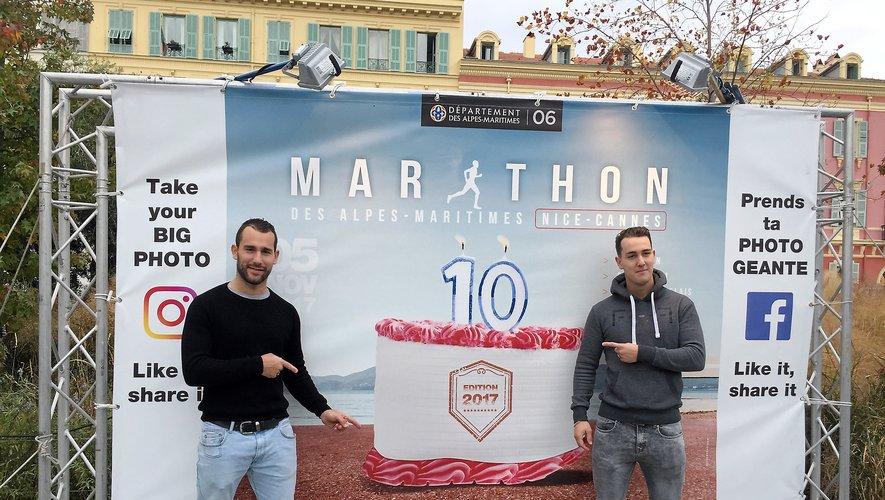 Pour Romain (à gauche) et Alexis Mathieu, le sport est indissociable de l'aventure familiale.