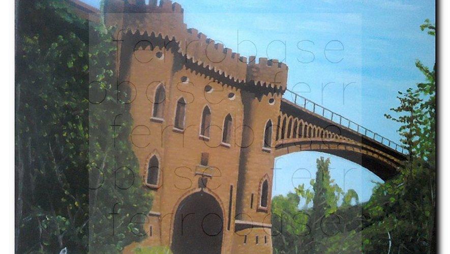 Le pont de Malakoff reliait le causse Comtal au bassin pour transporter le minerai.