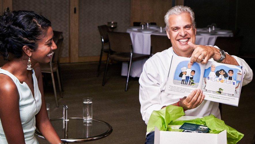 "Eric Ripert présente le livre ""Kalamata's Kitchen"""