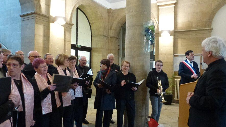 L'Ensemble Polyphonique a participé à la cérémonie.