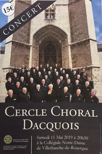 Le Cercle choral dacquois, un chœur d'hommes.
