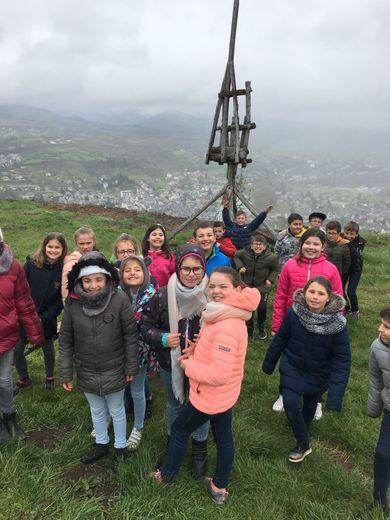 Les élèves de Saint-Jean ont découvert le château de Calmont-d'Olt