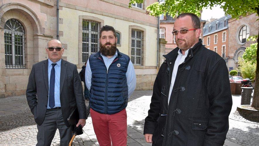 Jacques Molières, Anthony Quintard et Laurent Saint-Affre ont exposé leurs sujetsde préoccupations à la préfète.