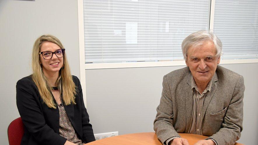 Estelle Périé, psychologue,et Maurice Barthélémy, président du CDG de l'Aveyron.