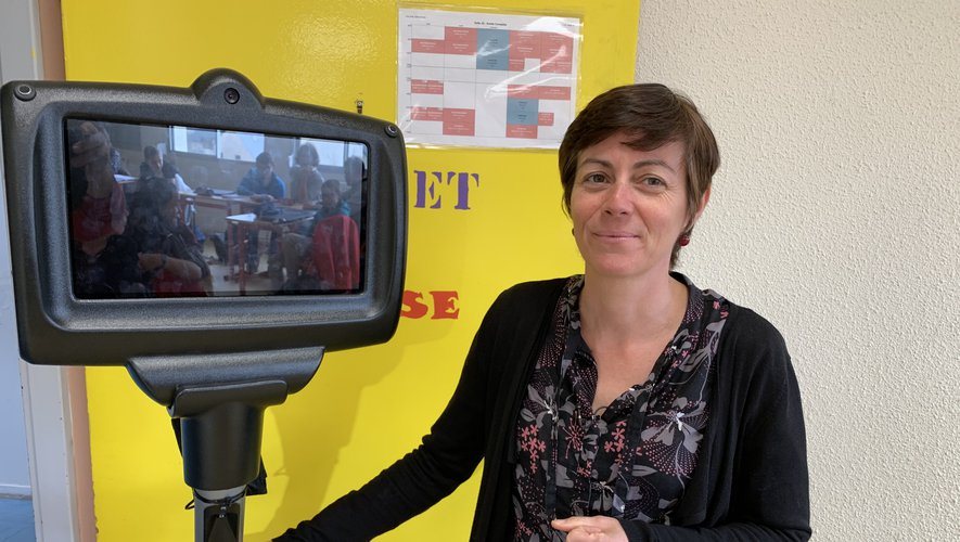 Le professeur Nadège Rivals pense pouvoir mettre en place u n deuxième robot, en Aveyron.