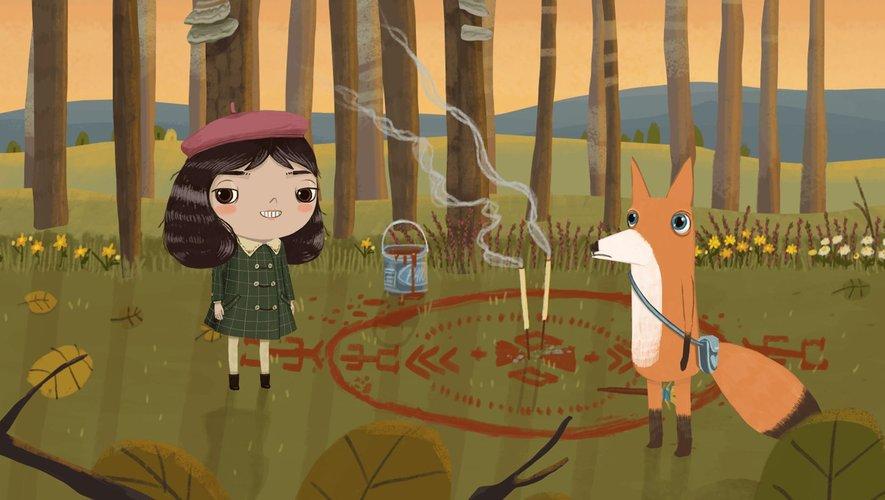 """Les personnages de """"Little Misfortune"""" : Misfortune Ramirez Hernandez et Benjamin the Fox"""