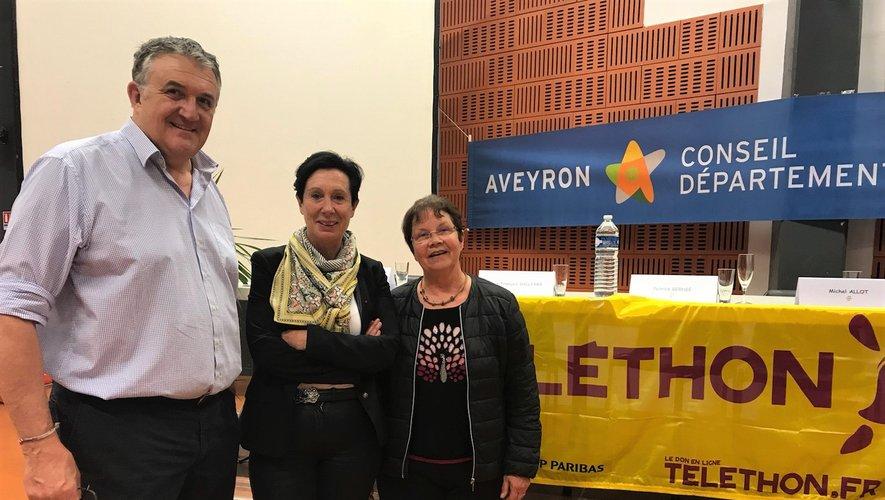 Le premier magistrat de la commune a reçu Laurence Tiennot-Herment, présidente nationale de l'AFM, en compagnie de Christine Glacet.
