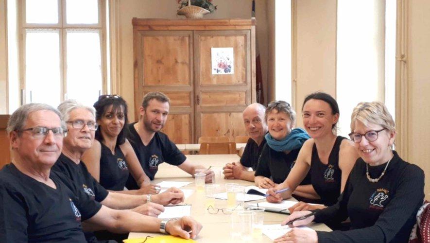 L'équipe des bénévoles de l'association Tango festival Saint-Geniez à la réunion de préparation du prochain festival.