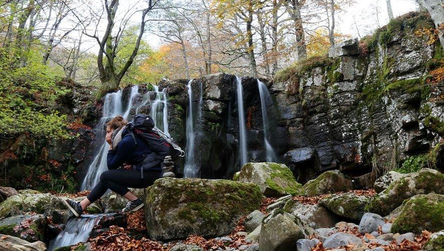 La cascade de Lacessat (Prades-d'Aubrac), un des 24 clichés choisis.