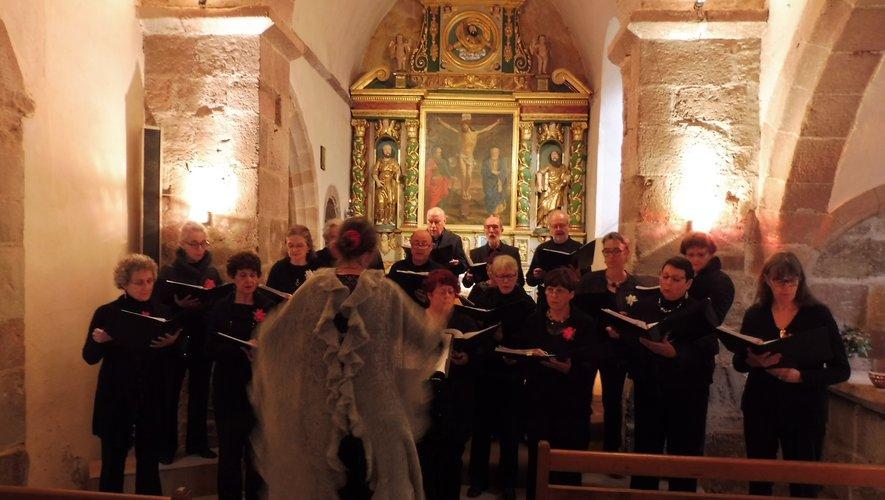 Une brillante prestation du Chœur départemental à Bessuéjouls