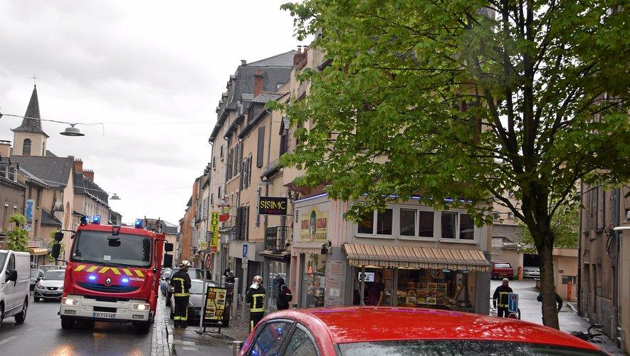 Les sapeurs-pompiers sont intervenus rue Béteille, vendredi 17 mai.