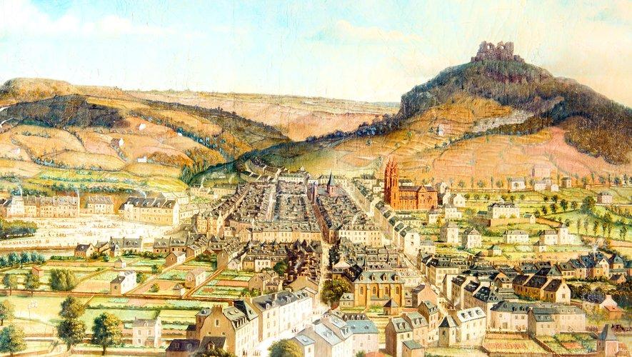 Une vue de la ville autrefois.