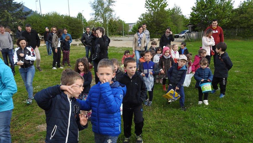 La chasse aux œufs était très attendue par les enfants.