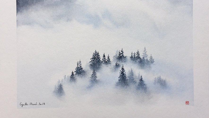 Cyrille Hurel alias Kyrillos exalte la nature à travers ses aquarelles.