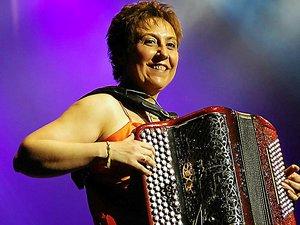 """Sylvie Pullès, la """"madame accordéon""""."""