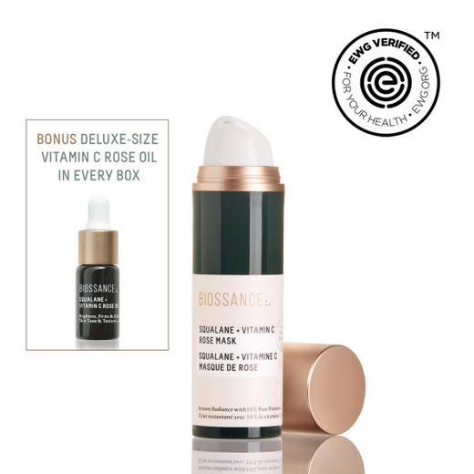 Masque de rose Squalane + Vitamin C - Biossance
