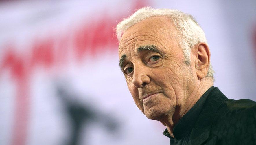 Le chanteur français Charles Aznavour.