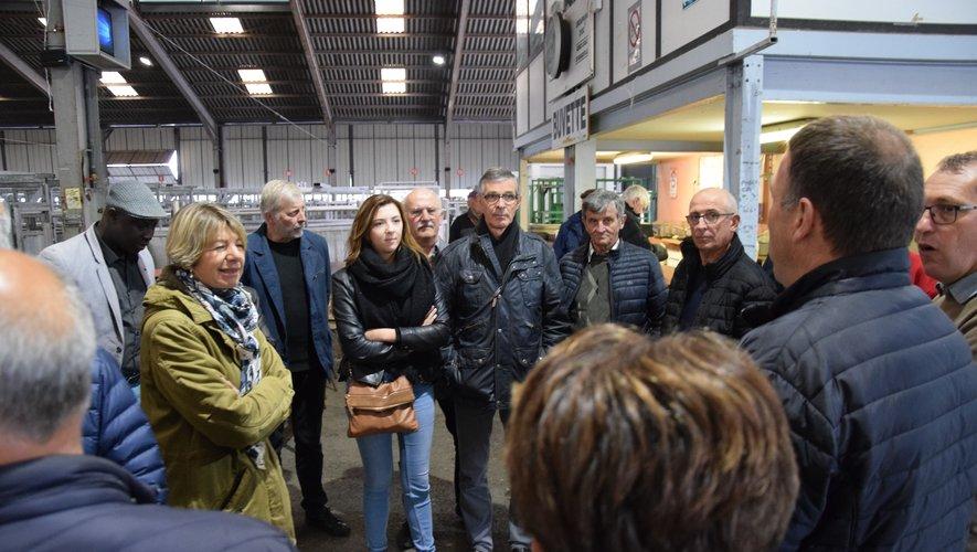 Jean-Marc Fabre et Vincent Albouy ont accueilli la député Anne Blanc et les élus communautaires.