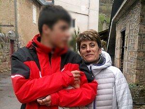 Patricia Hygonet avec son fils Ludovic, il y a trois ans.