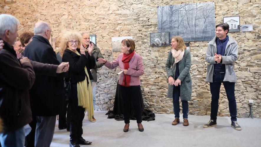 Tana Barbier, Lisa Gervassi, Christiane Phalip et François Chabas (conseiller municipal) ont lancé l'exposition.
