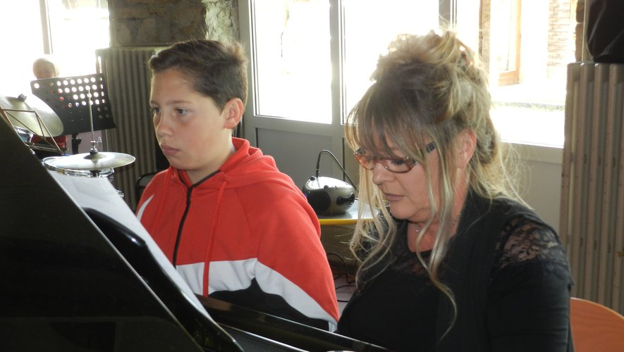 Sylvie Bouchaud, ici lors des auditions de l'école de musique, parle d'une « belle démarche » mise en place pour le concert de printemps de l'Harmonie.