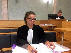 Me Stéphanie Boutaric,  conseil de la partie civile et, derrière elle, Bernard Salvador, avocat général.