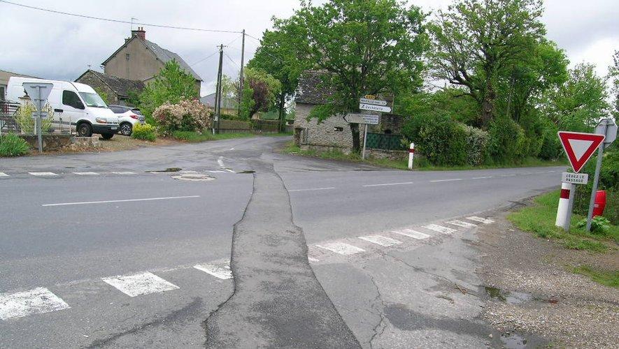 Etat actuel du carrefour.