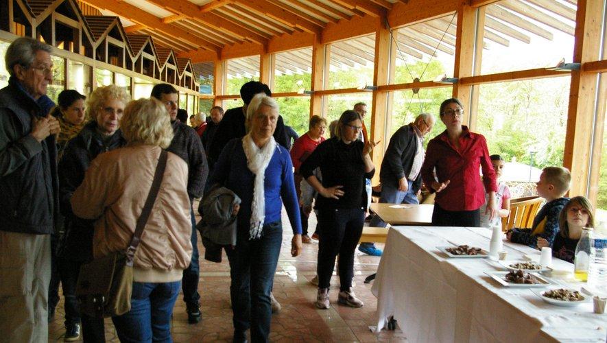 À la fin de la visite, les groupes avaient droit à une petite collation à base de produits locaux.