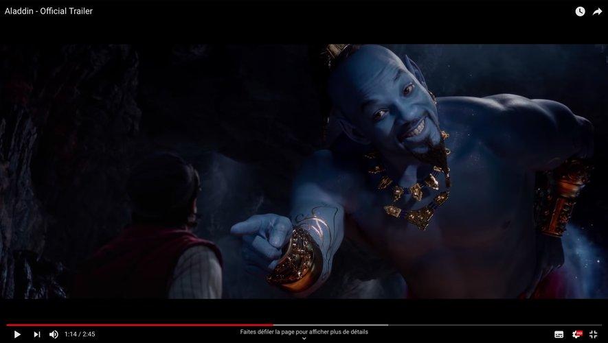 """Will Smith campe le Génie dans le film """"Aladdin"""" réalisé par Guy Ritchie."""