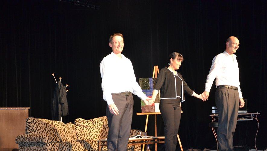 Un trio trés complice:Christophe Ribeyre,Frédérique Vivier et Quentin Muller.