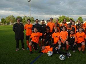 Les féminines et les U11 du Druelle FC.