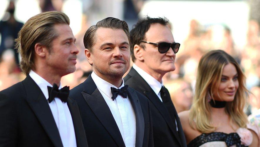 Brad Pitt, Leonardo DiCaprio, Quentin Tarantino et Margot Robbie, Festival de Cannes.