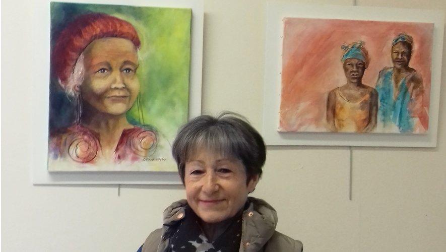 L'artiste expose ses toiles jusqu'à la fin du mois de juillet.