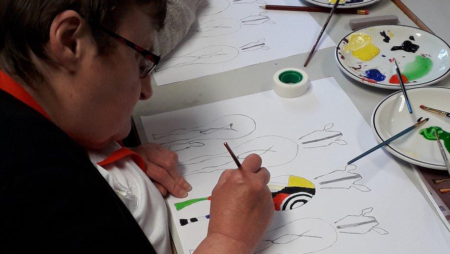 Journée peinture à la Mas