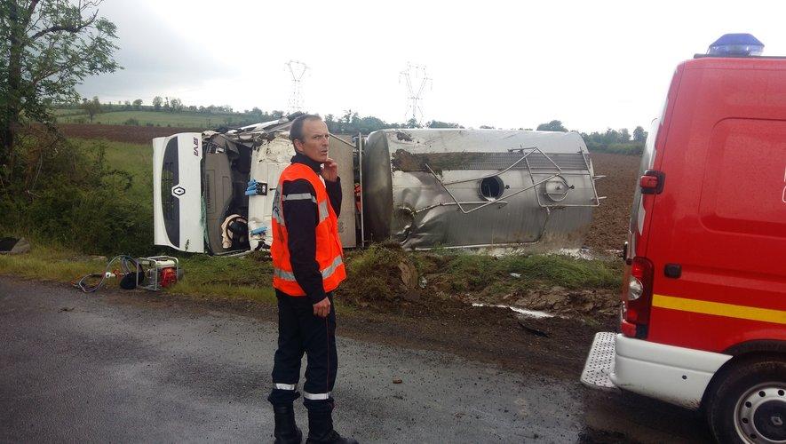 Les sapeurs-pompiers du Nord-Aveyron sont rapidement arrivés sur place.