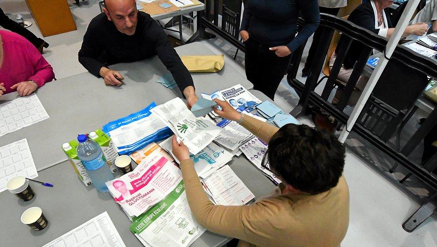 En Aveyron, ici à Rodez, les bureaux de vote ont fermé à 20 heures.
