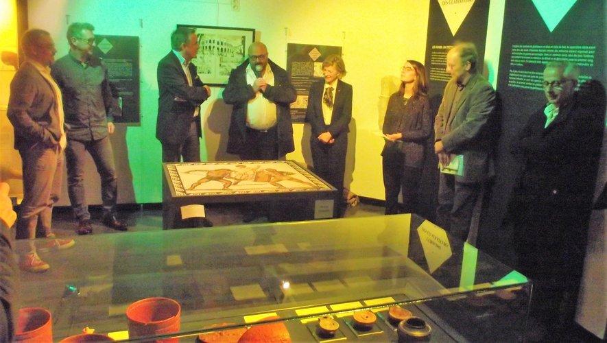 Le vernissage a eu lieu en présence de Jean-François Galliard.