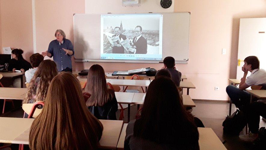 Jean-Michel Renault a parlé de dessin avec passion.