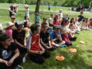 Dans un cadre accueillant, les écoliers ont pratiqué plusieurs activités dont la course d'orientation.