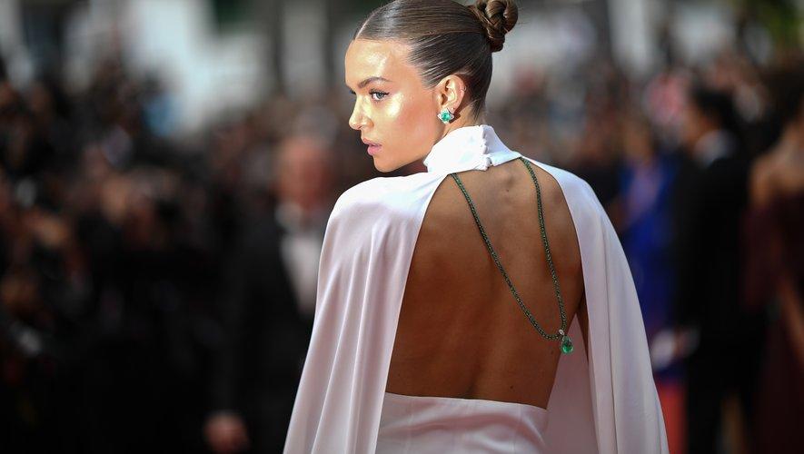 La Danoise Josephine Skriver au festival de Cannes, le 22 mai 2019