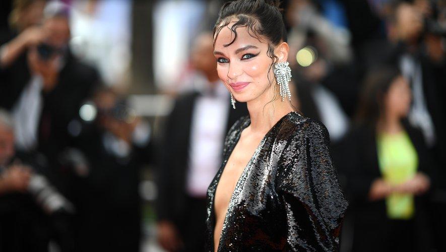 Le top brésilien Luma Grothe au festival de Cannes, le 21 mai 2019