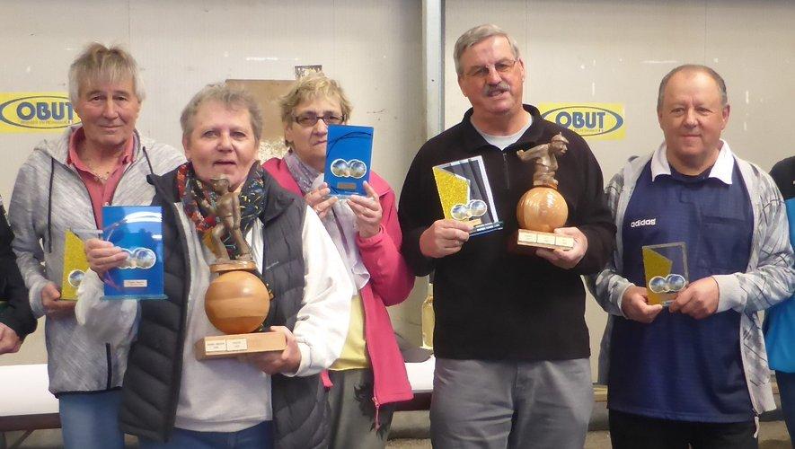 Les vainqueurs de ce challenge lors de la remise des prix.