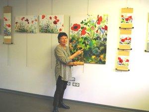 Marie-Paule Maître de la peinture Sagunja, commentera les visites de 16h30 à 18 heures.