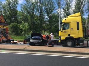 Trois véhicules circulant dans le même sens impliqués dans cette collision.