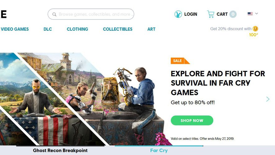 Uplay, le store d'Ubisoft