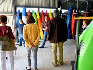 Le nouveau séchoir à kayaks mais aussi et à combinaisons néoprène fait 70 m2.